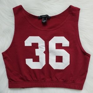 Forever 21 #36 Varsity Style Crop Top